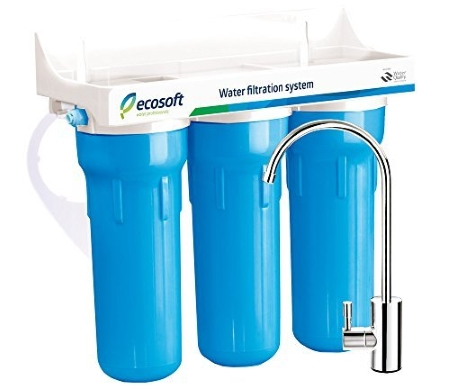 Ecosoft 3 Stage Under Sink Water Filtration System For Clean and Healthy Drinking Water