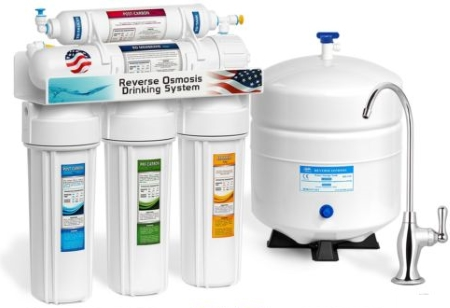 Express Water RO5DX 5 Stage Undersink RO Drinking Water Filtration System
