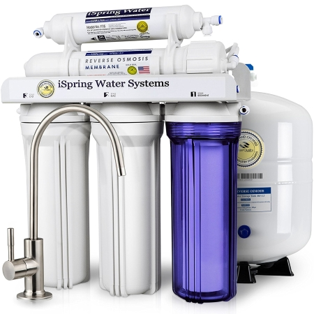 iSpring RCC7 5-Stage Reverse Osmosis Drinking Water Filtration System
