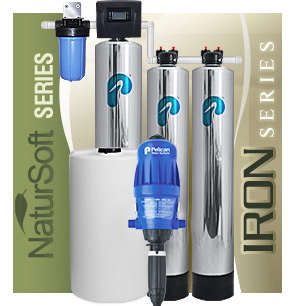 Pelican Iron Manganese Whole House Water Filter & Salt-Free Softener
